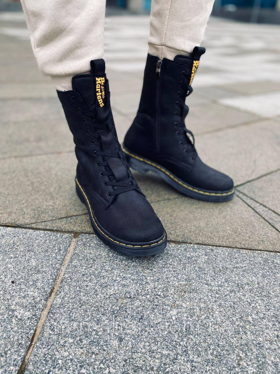 Мужские ботинки с мехом в стиле Dr. Martens