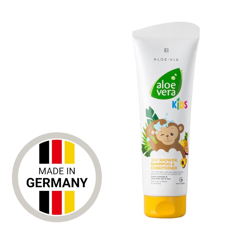 Дитячий шампунь-кондиціонер для волосся та тіла LR Aloe Vera Kids (250 мл)