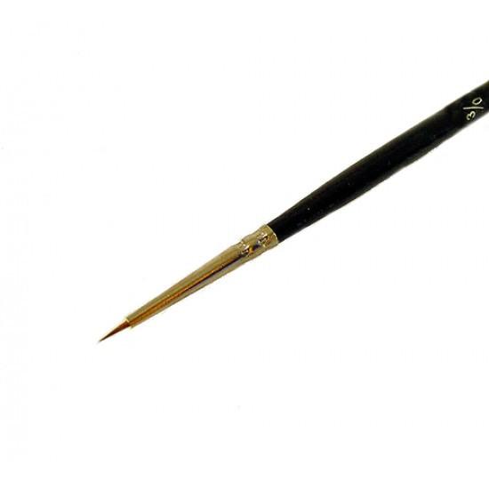Кисть колонок Rosa Classic 3007R Kolos круглая №000 кор. ручка (4823064900552)