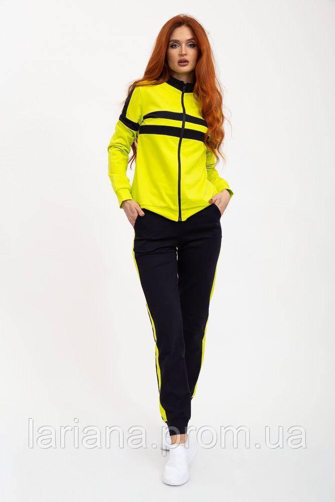 Спорт костюм женский 119R604 цвет Желто-черный