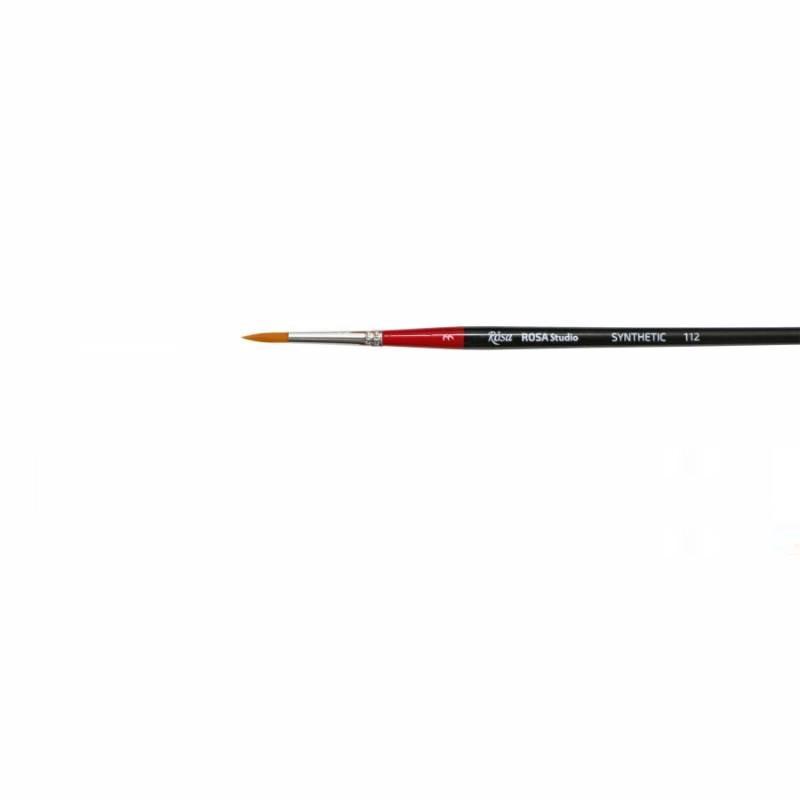 Кисть синтетика Rosa 112 круглая №3 длин. ручка (4823086700369)