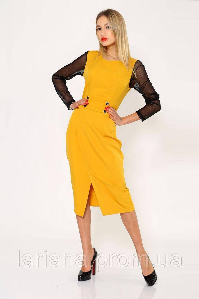Платье женское 119R466 цвет Горчичный