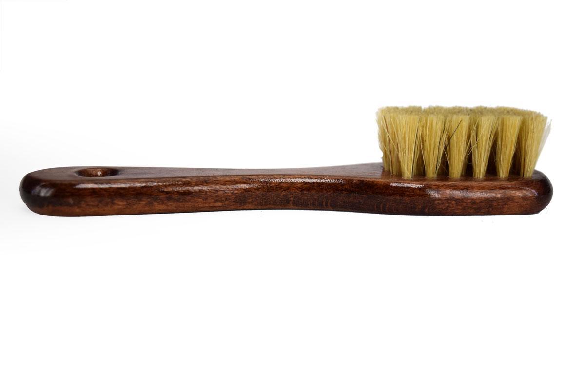 Щітка-намазок для нанесення крему на взуття натуральна щетина