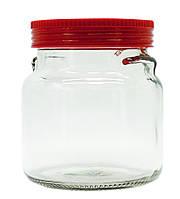 Банка стеклянная с пластиковой крышкой Everglass Италия 550мл 1шт (1554Н)