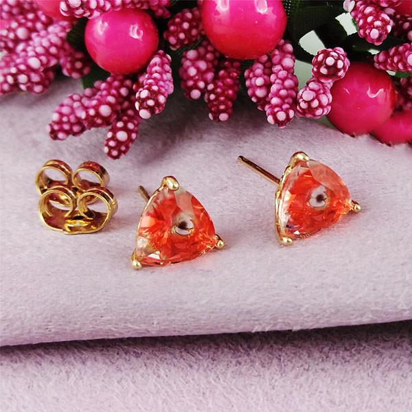 Серьги гвоздики Xuping Jewelry медицинское золото позолота 18К А/В 1-0290