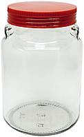 Банка стеклянная с пластиковой крышкой Everglass Италия 900мл 1шт (1904Н)