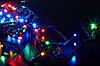 Новогодняя гирлянда 100 лампочек на черном проводе, фото 3