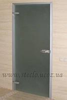 Стеклянные  двери межкомнатные в алюминиевой коробке матированные