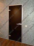 Стеклянные  двери межкомнатные в алюминиевой коробке матированные, фото 3