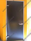 Стеклянные  двери межкомнатные в алюминиевой коробке матированные, фото 4