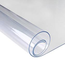 Силіконова скатертину М'яке скло Soft Glass Покриття для меблів 1.7х1.4м (товщина 0.4 мм) Прозора