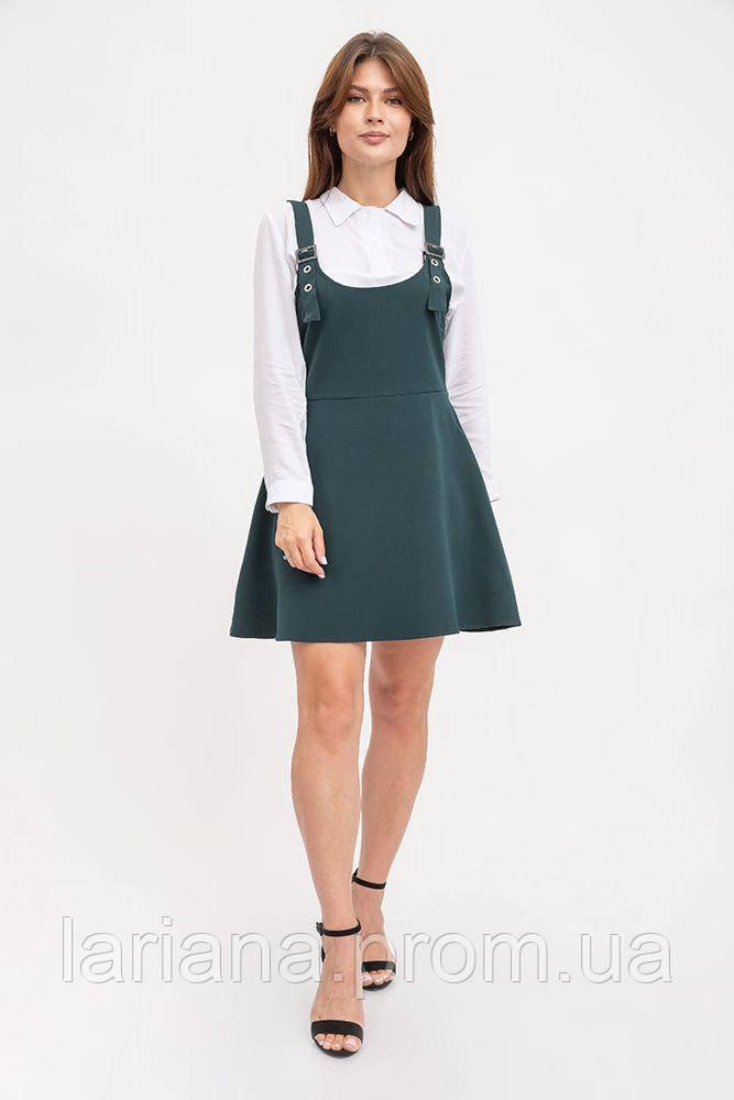 Сарафан жіночий 119R315 колір Темно-зелений