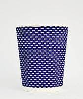 Стакан бумажный гофра 330мл 20шт синий 3D