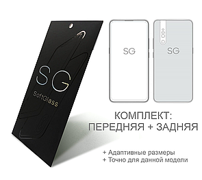 Мягкое стекло для Realme 5i SoftGlass Комплект: Передняя и Задняя