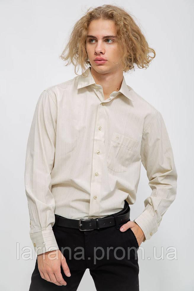 Рубашка мужская 113R295 цвет Бежевый