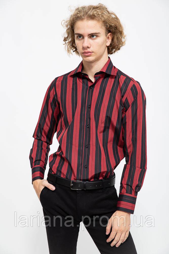 Рубашка мужская 113R294 цвет Бордово-черный