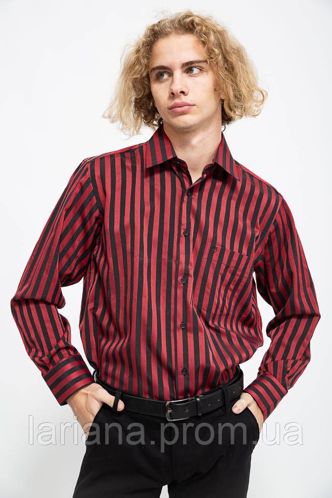 Рубашка мужская 113R290 цвет Бордово-черный