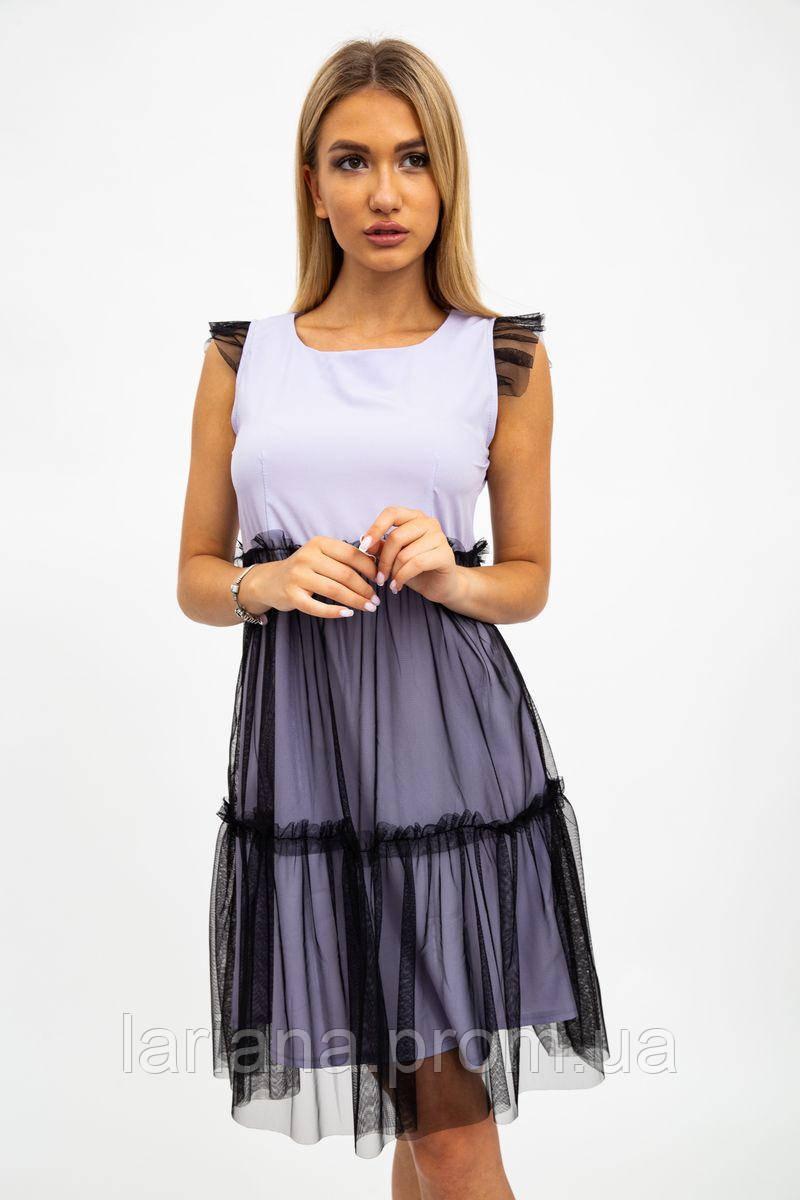 Платье женское 119R287 цвет Сиренево-черный