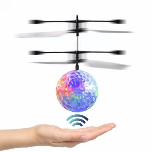 Летающий диско шар с подсветкой Sensor Ball, Интерактивная игрушка разноцветная