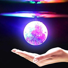 Летающий диско шар с подсветкой Sensor Ball, Интерактивная игрушка разноцветная, фото 3