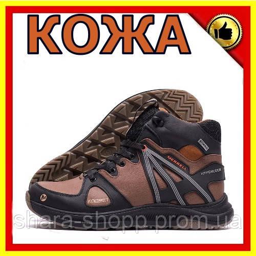 Мужские зимние кожаные ботинки MERRELL SLAB Olive Мужская зимняя обувь