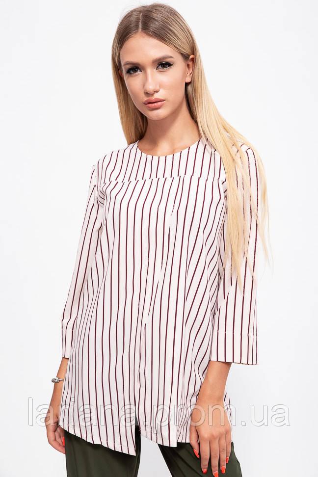 Блуза женская 115R289-1 цвет Молочно-бордовый