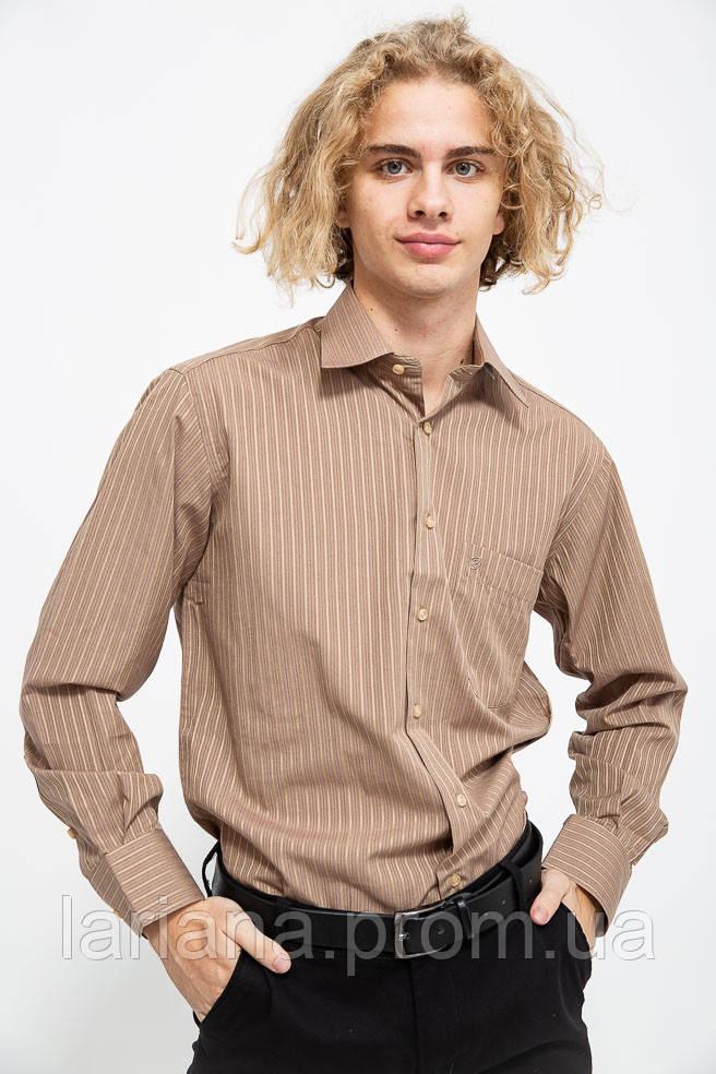Рубашка мужская 113R289 цвет Коричневый