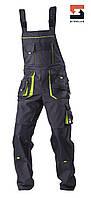 Полукомбинезон рабочий со съёмной утепленной подкладкой SteelUZ 4S, Темно-серый (с салатовой отделкой), M