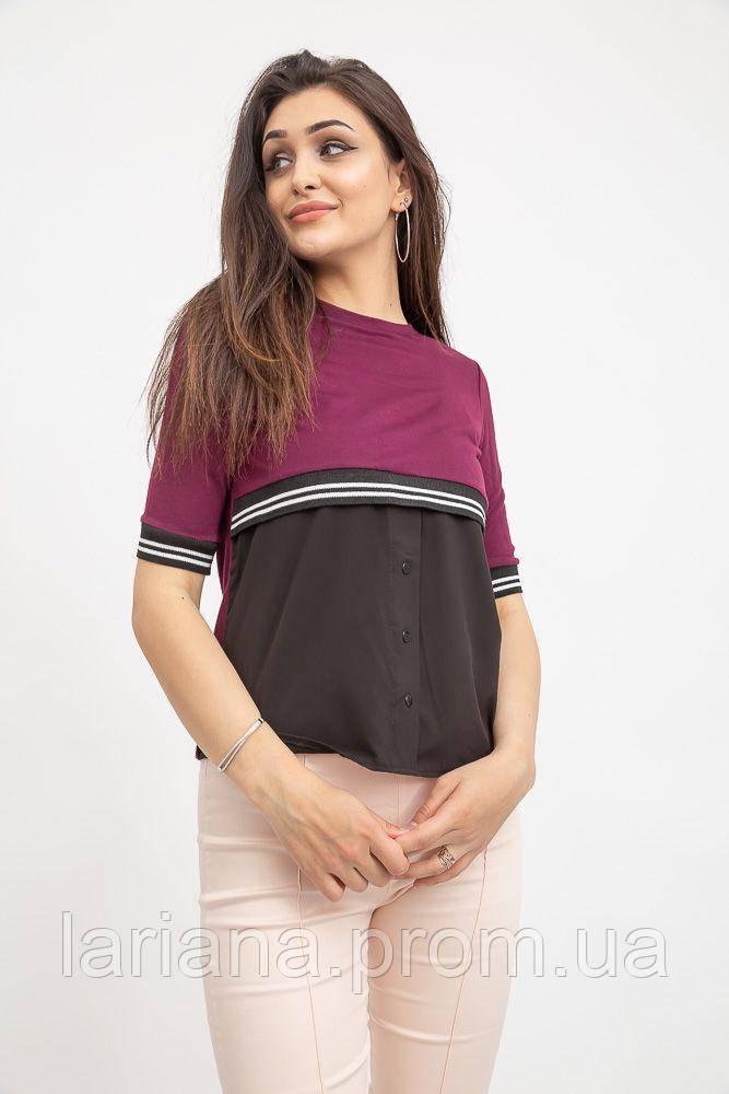 Блуза женская 119R163 цвет Сливово-черный