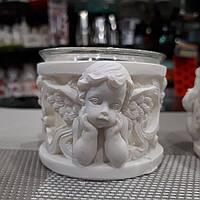 Подсвечник круглый с Ангелами (цена за 1 шт.)