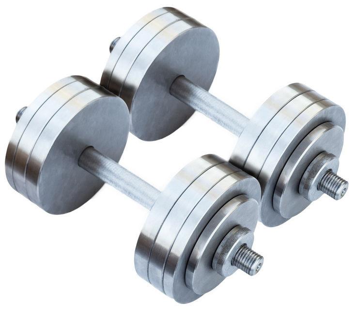 Розбірні гантелі металеві 2 по 20 кг (набірні, гантелі для дому)