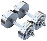 Розбірні гантелі металеві 2 по 20 кг (набірні, гантелі для дому), фото 1