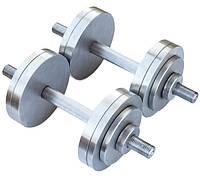 Гантели 2 по 14 кг разборные металл (металеві гантелі розбірні наборні наборные для дома металлические), фото 1