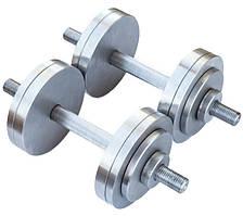 Розбірні гантелі металеві 2 по 14 кг (набірні, гантелі для дому)