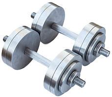 Гантелі 2 по 18 кг розбірні метал (металеві гантелі розбірні наборні набірні для будинку металеві)