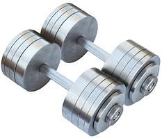 Гантелі 2 по 30 кг розбірні метал (металеві гантелі розбірні наборні набірні для будинку металеві)