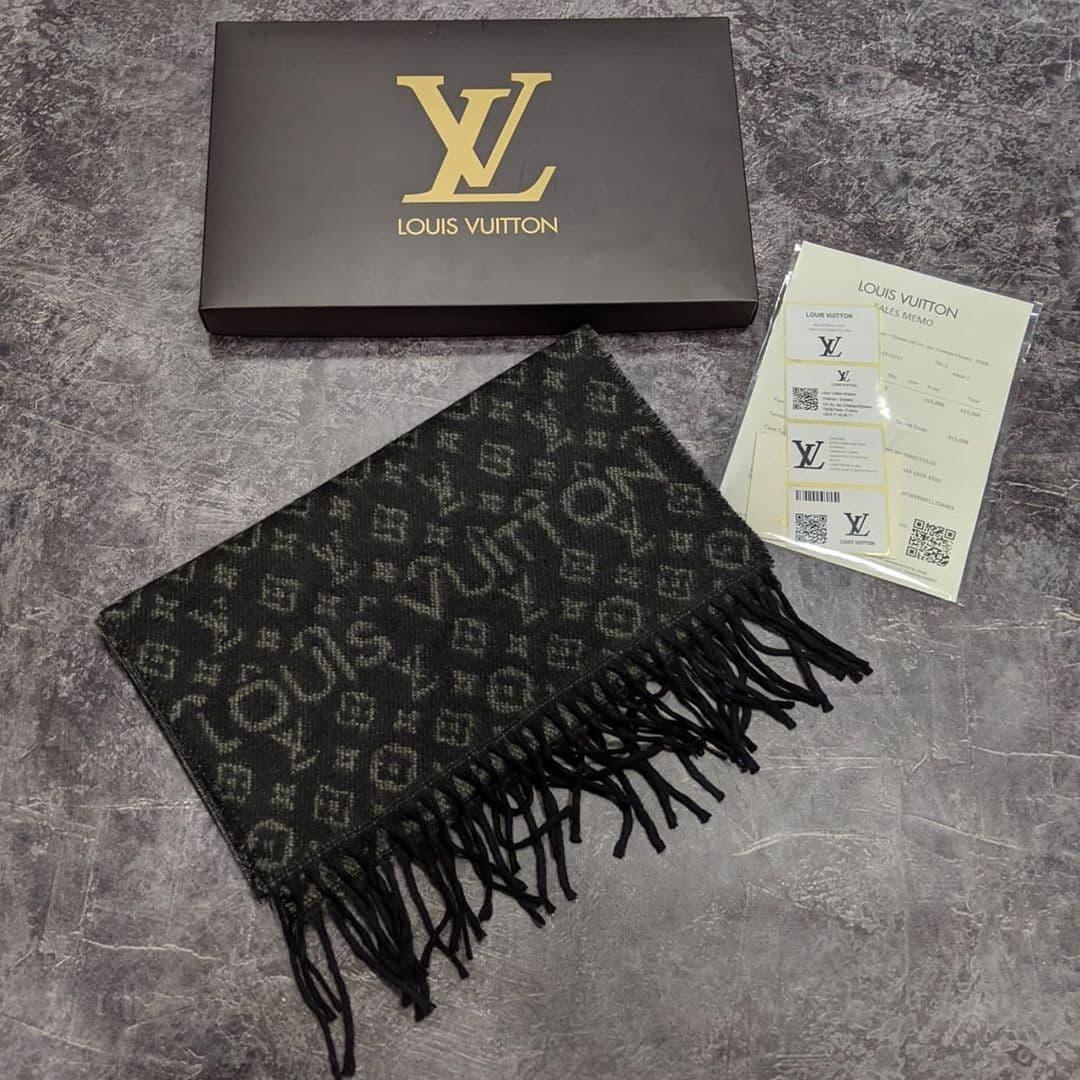 Брендовий шарф Louis Vuitton CK1477 чорний