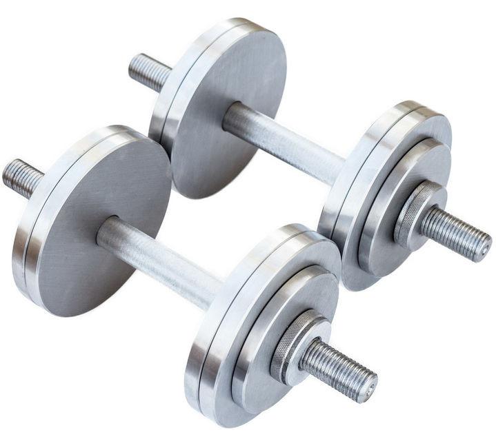 Гантели разборные 2 по 12 кг металлические со сменными дисками набор