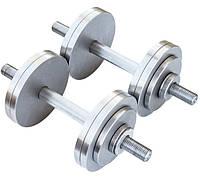 Гантелі 2 по 12 кг розбірні метал (металеві гантелі розбірні наборні набірні для будинку металеві), фото 1
