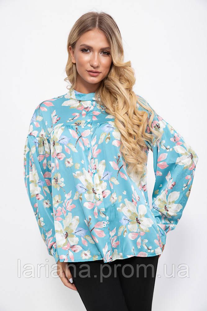 Блуза 115R239-1 цвет Голубой