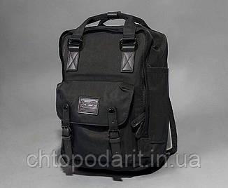Женский городской рюкзак Doughnut Macaroon черный  Код 11-1002