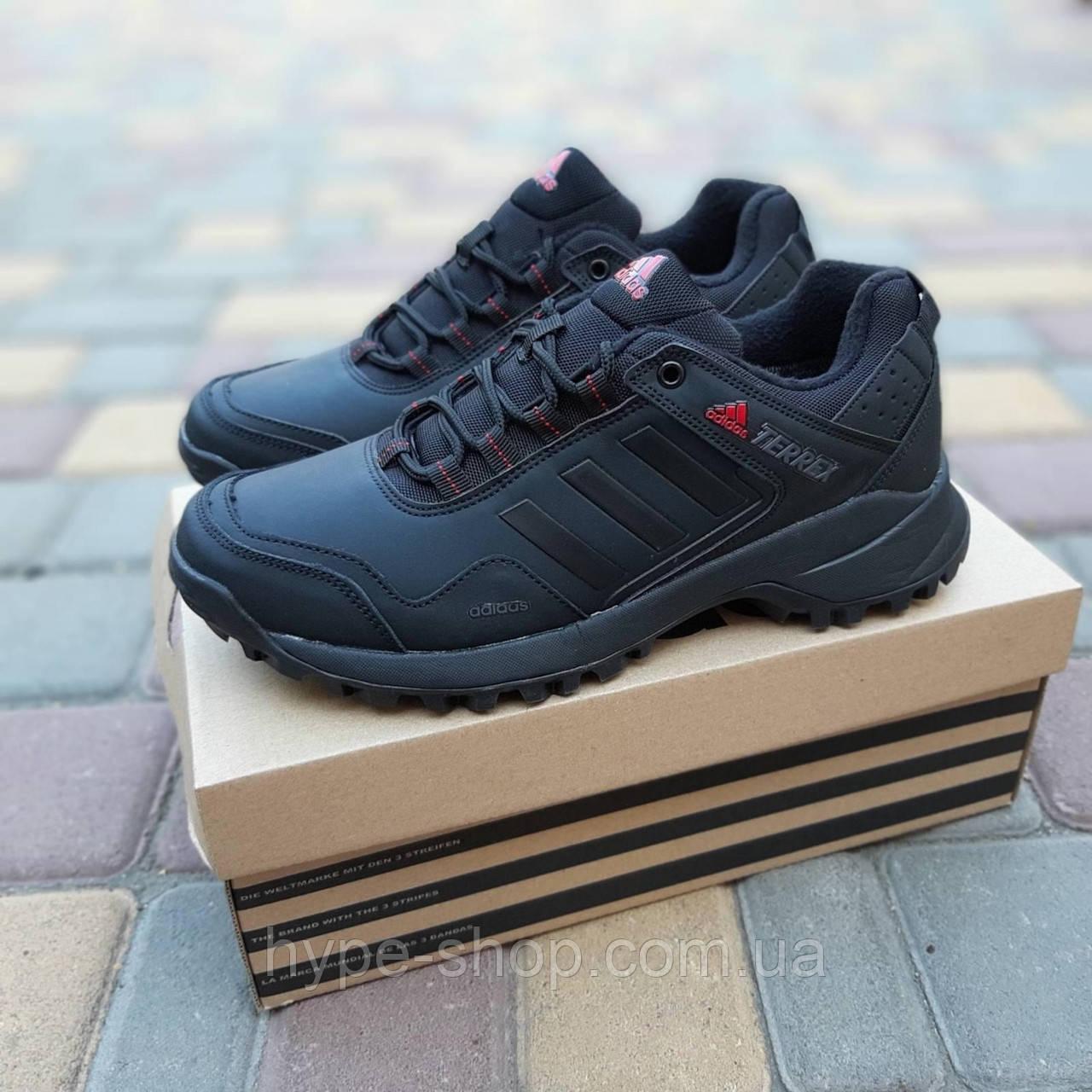 Мужские зимние кроссовки Adidas Terrex черный реплика