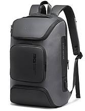 Рюкзак городской Bange BG-7078  USB-разъем влагостойкий серый 30л