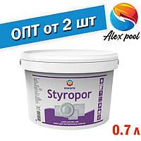 Eskaro Styropor 0,7 л Клей для виробів з стіропора - для приклеювання на стелі і стіни виробів з пінопласту