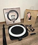 Кольцевая лампа 45 cм со штативом 65Вт, тремя держателями, кольцевой свет для визажиста, косметолога, фото 2