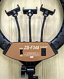 Кольцевая лампа 45 cм со штативом 65Вт, тремя держателями, кольцевой свет для визажиста, косметолога, фото 4