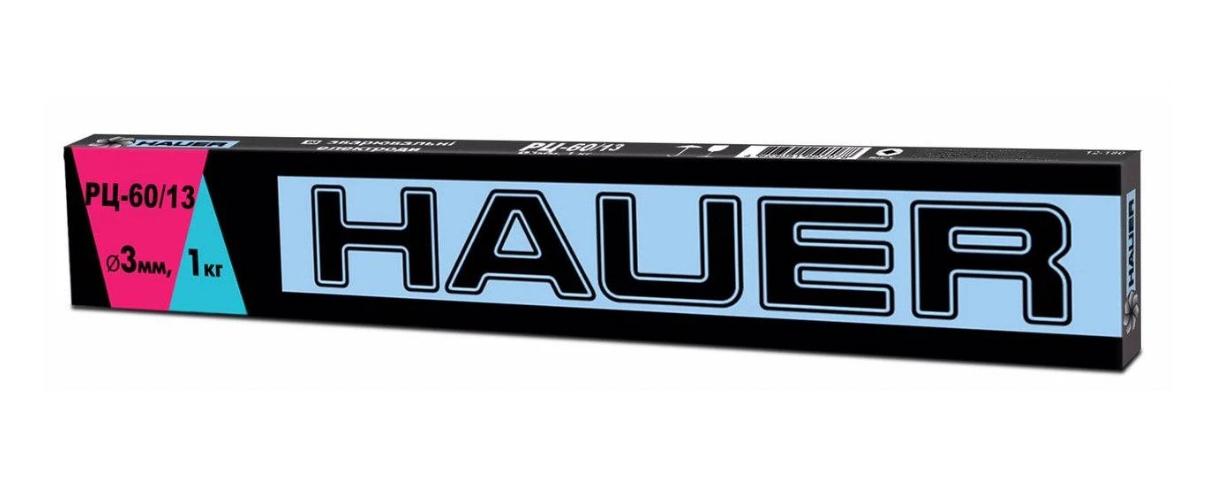 Електроди Hauer РЦ-60/13 зварювальні 3 мм, 4 кг (12-214)