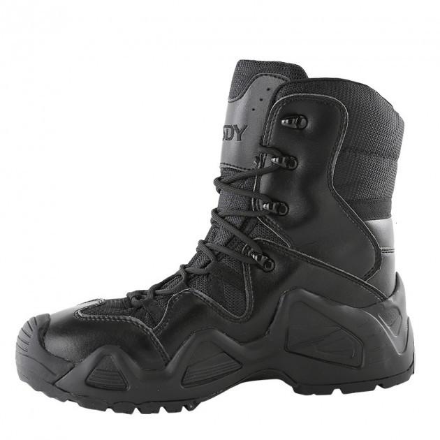 Завышенные ботинки тактические на мембране реплика ESDY Alligator черные