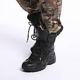 Завышенные ботинки тактические на мембране реплика ESDY Alligator черные, фото 3