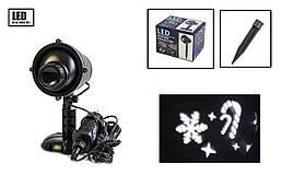 Лазерний проектор X-Laser для вулиці і вдома новорічний водонепроникний Білий